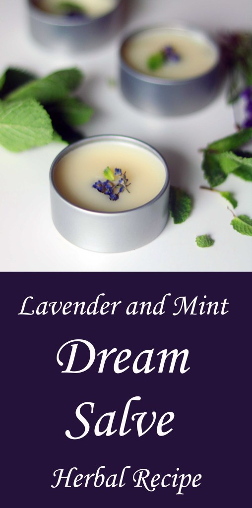 Lavender and mint dream salve for deepening the unconscious experience.