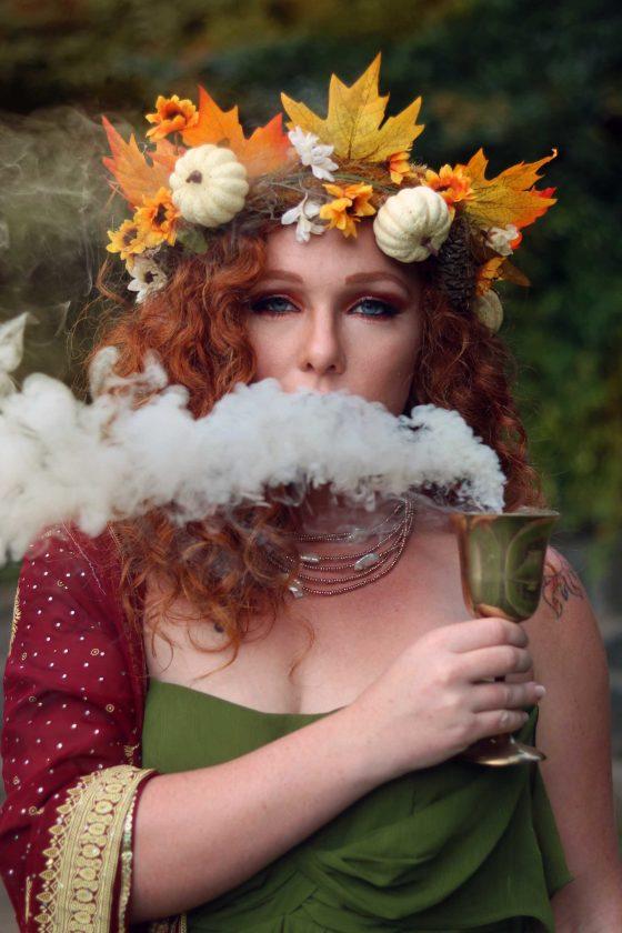 Easy autumn chalice ritual.