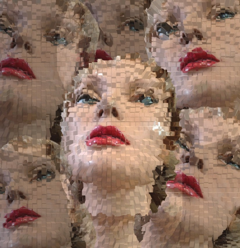 fragmented mannequin heads symbolic of identity confusion