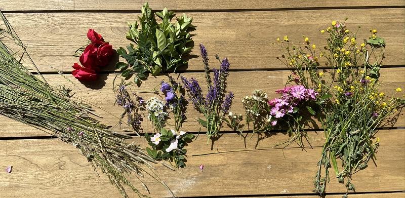 benodigdheden bloemenkrans