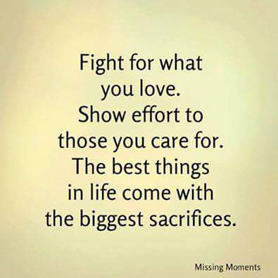Fight, show and sacrifice