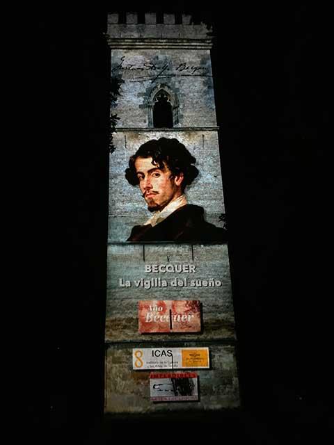"""""""Bécquer, la vigilia del sueño"""" en la torre de Don Fadrique."""