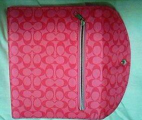 ムック本付録の限定色ピンクのCOACHノートパッド