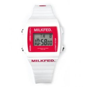 2019年10月発売ムック本MILKFED. DIGITAL WATCH BOOK WHITE付録の腕時計