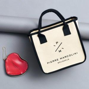 セブン限定雑誌SPRiNG2020年3月号増刊付録のPIERRE MARCOLINIのトートバッグ