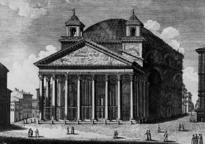 Pantheon-Engraving