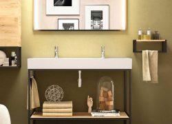 Banyo-Duvar-Rafı,-Banyo-Düzenleyici-Organizer-,-Ahşap-&-Metal-Banyo-Duvar-Rafı-2
