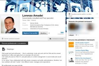 Il profilo personale su LinkedIn, vecchio layout