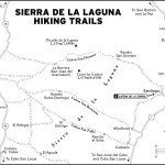 Map of Sierra de la Laguna Hiking Trails in Mexico