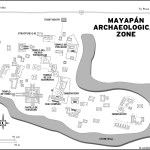 Map of Mayapán Archaeological Zone