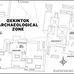 Map of Oxkintok Archaeological Zone in Mexico