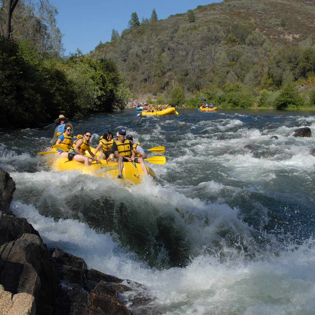 Rafting the American River with Beyond Limits.