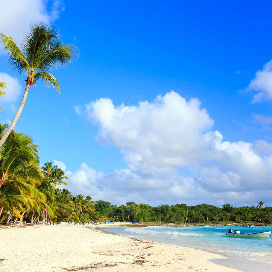 The picturesque Saona Island is also a nesting site for sea turtles. Photo © czekma13/123rf.