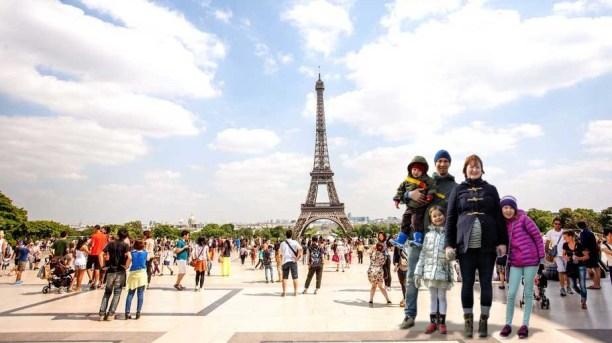 Vi rakk en tur innom Paris