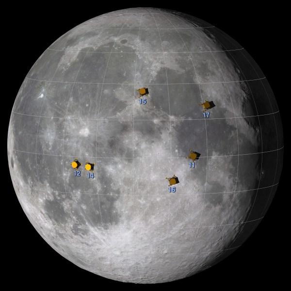 Apollo Landing Sites - Moon: NASA Science