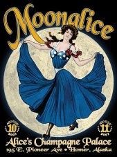 8/10-11/07 Moonalice poster by Alexandra Fischer
