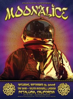 9/12/09 Moonalice poster by Dave Hunter