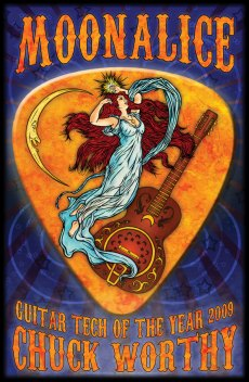 Commemorative Guitar Tech of the Year poster by Alexandra Fischer