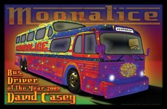 Commemorative David Casey Moonalice poster by Alexandra Fischer