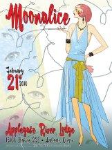 2/21/10 Moonalice poster by Alexandra Fischer