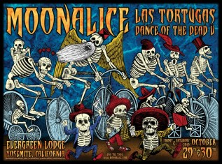 M330 › 10/29/10 Las Tortugas Dance of the Dead V, Yosemite, CA poster by Alexandra Fischer