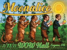 M344 › 3/11/11 Wow Hall, Eugene, OR poster by Alexandra Fischer