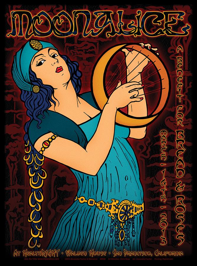 3/14/13 Moonalice poster by Alexandra Fischer