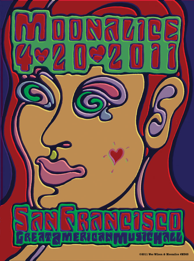 M365 › 4/20/11 Tribal Pow-Wow, Great American Music Hall, San Francisco poster by Wes Wilson