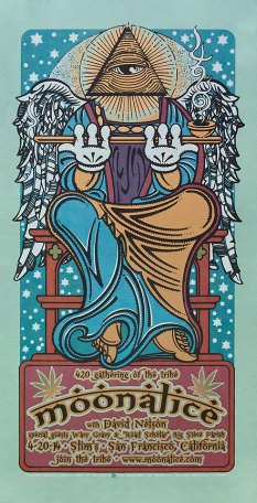 4/20/14 Gathering of the Tribe at Slim's, San Francisco, CA silkscreen poster by Gary Houston