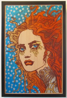 Persephone, 2014 by Chuck Sperry 23 x 35 Oak Panel Edition of 6