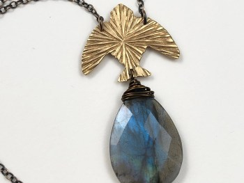 Labradorite Bird Necklace