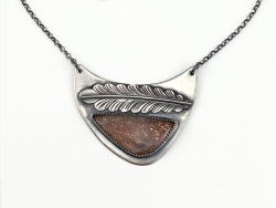 Sunstone Feather Necklace