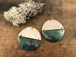 Agate Circle Earrings