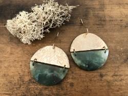 Agate Circle Earrings