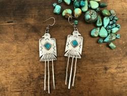 Turquoise Thunderbird Earrings