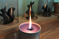 Delicious lavender and cream candle by Sihaya and Company.
