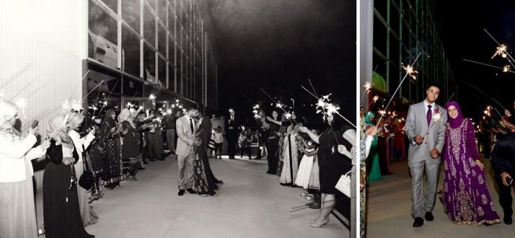 52 space and rocket center sparkler wedding exit