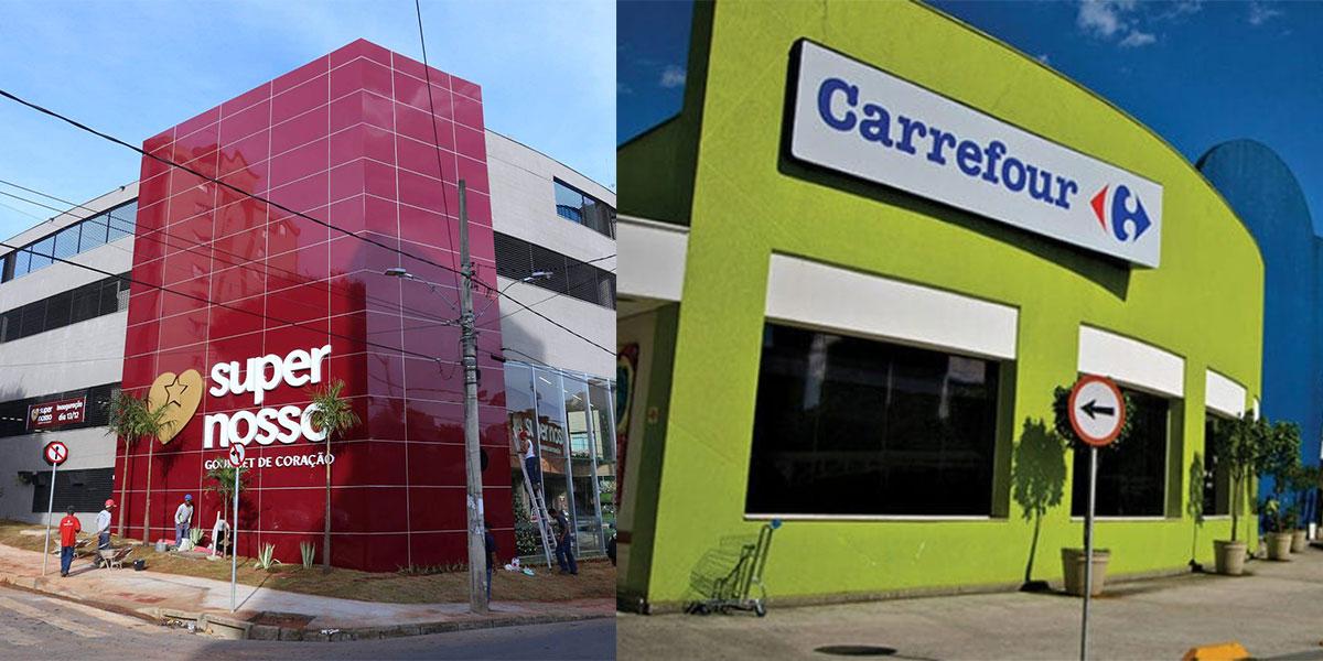 Super Nosso começa a assumir supermercados do Carrefour em BH   Moon BH