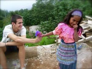 Guatemalan girl & tourist