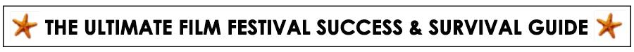 Film Festival Survival Guide