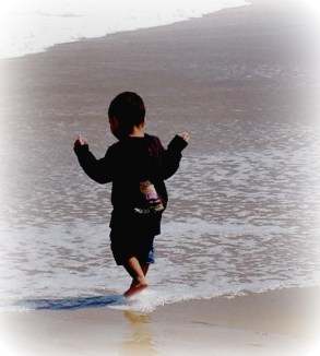 boy in surf