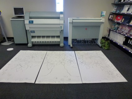 First enlarge the design at FedEx Office!