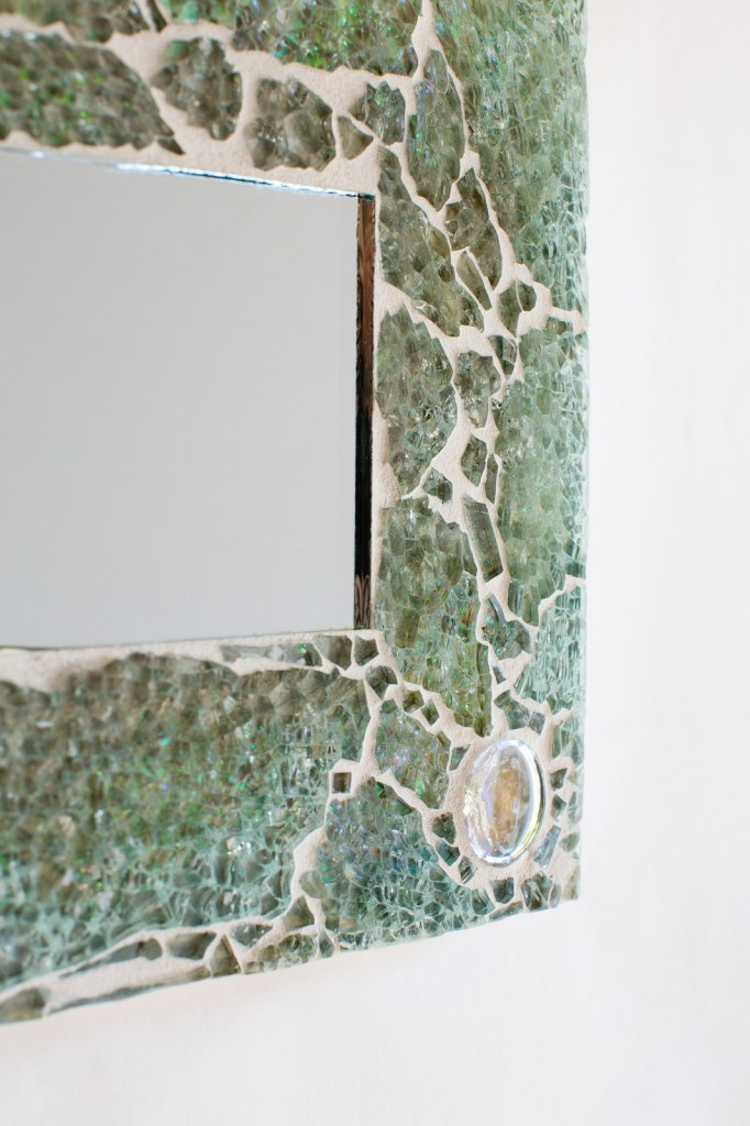 turquoise mosaic mirror 1