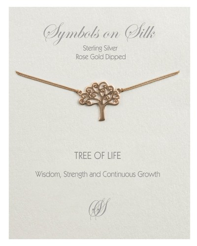 Tree of Life Necklace Rose