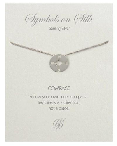 Compass Bracelet Sterling Silver