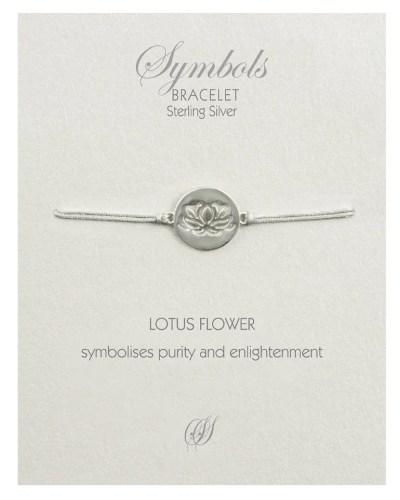 Lotus Flower Bracelet Silver