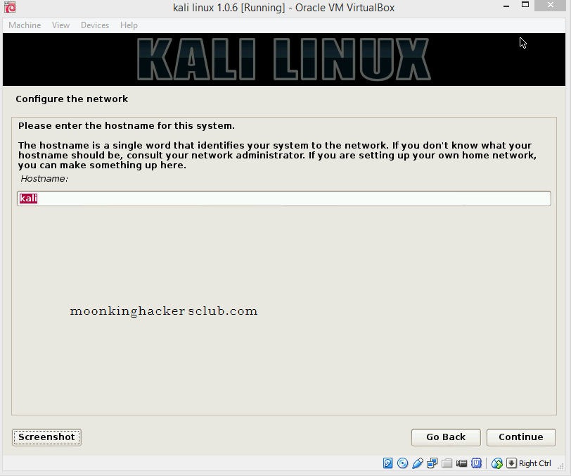 install kali linux on virtualbox 5.2