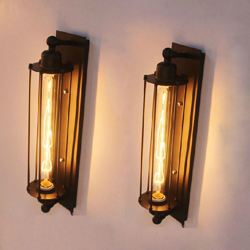 NEW Industrial Long Wall Lamp Retro Wall Light Rustic Wall ... on Vintage Wall Sconces id=13670