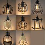 Vintage Industrial Metal Cage Black Cafe Loft Bar Pendant Light Lamp Shade Ebay