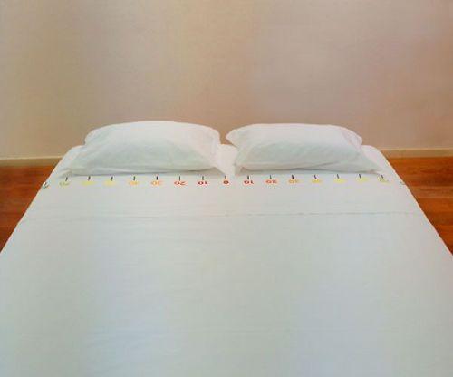 這床單是適合夫妻吵架的時候用的嗎? (離我30公分遠)